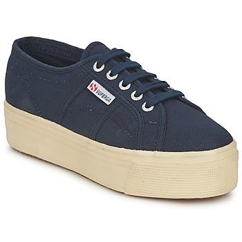 Cipők Női Rövid szárú edzőcipők Superga 2790 LINEA UP AND Tengerész