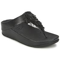 Shoes Női Lábujjközös papucsok FitFlop CHACHA Fekete