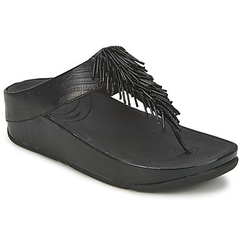 Cipők Női Lábujjközös papucsok FitFlop CHACHA Fekete