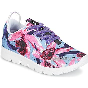 Cipők Női Rövid szárú edzőcipők Superdry SUPERDRY SCUBA RUNNER Rózsaszín / Kék