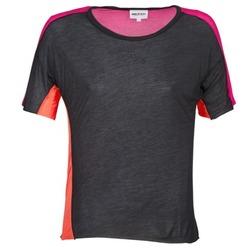 Ruhák Női Rövid ujjú pólók American Retro CAROLE Fekete  / Rózsaszín