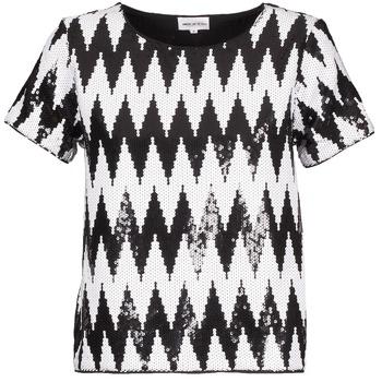 Ruhák Női Rövid ujjú pólók American Retro GEGE Fekete  / Fehér