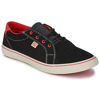 Cipők Női Rövid szárú edzőcipők DC Shoes COUNCIL W Fekete  / Piros
