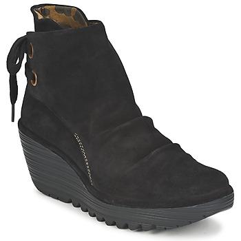 Cipők Női Bokacsizmák Fly London YAMA Fekete