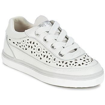 Cipők Lány Rövid szárú edzőcipők Geox CIAK G. H Fehér