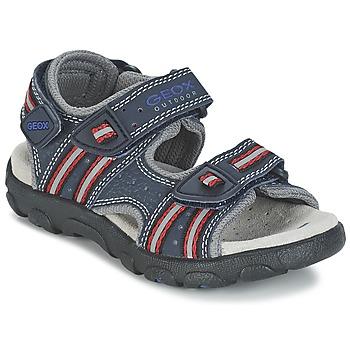 Shoes Lány Sportszandálok Geox S.STRADA A Tengerész / Piros
