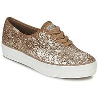Cipők Női Rövid szárú edzőcipők Keds TRIPLE GLITTER Arany