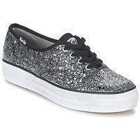 Cipők Női Rövid szárú edzőcipők Keds TRIPLE GLITTER Ezüst