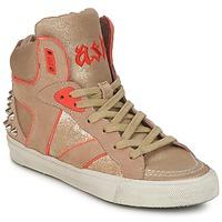 Shoes Női Magas szárú edzőcipők Ash SPIRIT Bézs / Arany / Narancssárga