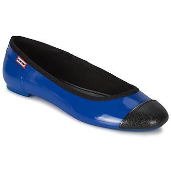 Cipők Női Balerina cipők / babák Hunter ORIGINAL BALLET FLAT Kobalt