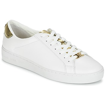 Cipők Női Rövid szárú edzőcipők MICHAEL Michael Kors IRVING Fehér / Arany