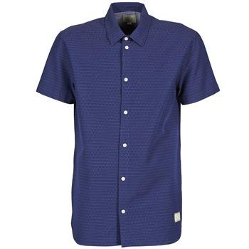 material Férfi Rövid ujjú ingek Suit DAN S Kék