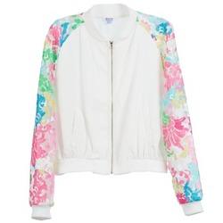 Ruhák Női Kabátok Brigitte Bardot BB44045 Fehér / Sokszínű