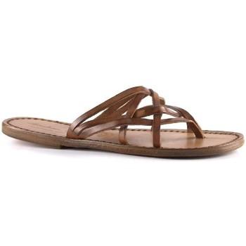 Cipők Női Papucsok Gianluca - L'artigiano Del Cuoio 543 D CUOIO CUOIO Cuoio