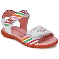 Cipők Lány Szandálok / Saruk Agatha Ruiz de la Prada CAZOLETA Fehér / Sokszínű