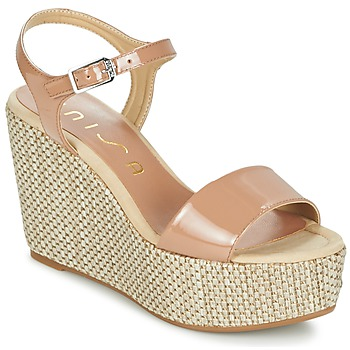 Cipők Női Szandálok / Saruk Unisa LITUAN Bézs / Rózsaszín