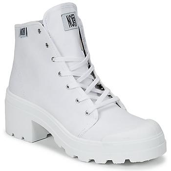 Cipők Női Magas szárú edzőcipők No Box GALIA Fehér