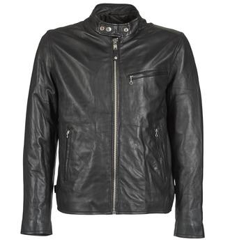 Ruhák Férfi Bőrkabátok / műbőr kabátok Schott BLODOU Fekete