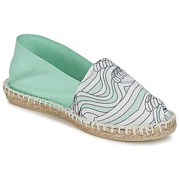 Cipők Női Gyékény talpú cipők 1789 Cala CLASSIQUE IMPRIMEE Víz / Fehér