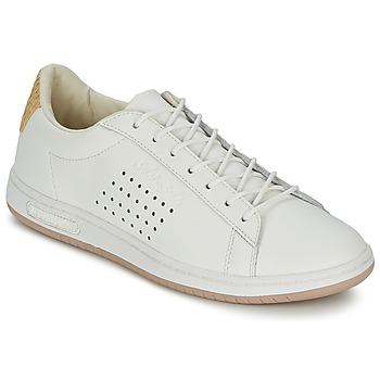 Cipők Rövid szárú edzőcipők Le Coq Sportif ARTHUR ASHE RAFFIA Krém