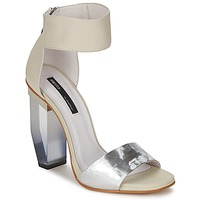 Cipők Női Szandálok / Saruk Miista JAYDA Fehér / Ezüst