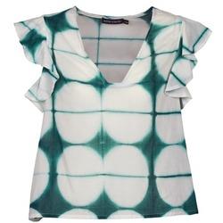 Ruhák Női Rövid ujjú pólók Antik Batik BAB Fehér / Zöld