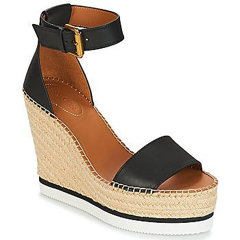 Cipők Női Gyékény talpú cipők See by Chloé SB26152 Fekete  / Fehér