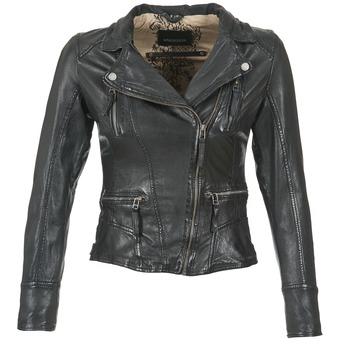 Ruhák Női Bőrkabátok / műbőr kabátok Oakwood CAMERA Fekete