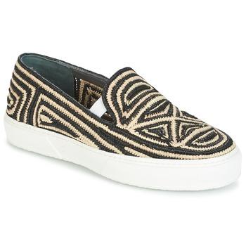 Cipők Női Belebújós cipők Robert Clergerie TRIBAL Fekete  / Bézs