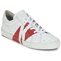 Cipők Férfi Rövid szárú edzőcipők Bikkembergs RUBB-ER 668 LEATHER Fehér / Piros