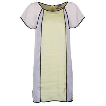 Ruhák Női Rövid ruhák Chipie FREGENAL Citromsárga / Szürke