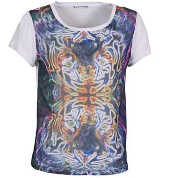 material Női Rövid ujjú pólók DDP PORIX Sokszínű