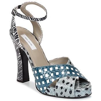 Cipők Női Szandálok / Saruk Marc Jacobs Elap Kék / Fehér