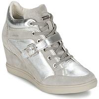 Cipők Női Magas szárú edzőcipők Geox ELENI C Ezüst