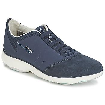 Cipők Női Rövid szárú edzőcipők Geox NEBULA C Tengerész