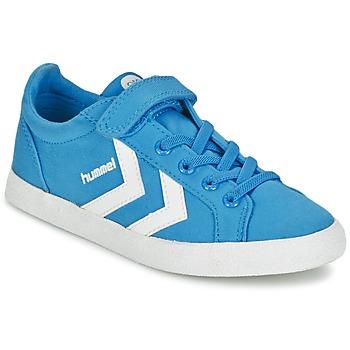 Shoes Gyerek Rövid szárú edzőcipők Hummel DEUCE COURT JR Kék