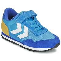 Shoes Gyerek Rövid szárú edzőcipők Hummel REFLEX JR Kék