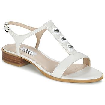 Cipők Női Szandálok / Saruk Clarks BLISS SHIMMER Fehér
