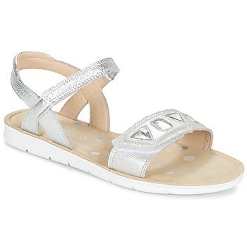 Cipők Lány Szandálok / Saruk Clarks MIMOMAGIC JUNIOR Ezüst