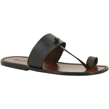 Cipők Női Papucsok Gianluca - L'artigiano Del Cuoio 554 U MORO CUOIO Testa di Moro