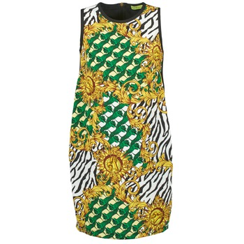 Ruhák Női Rövid ruhák Versace Jeans NDM909 BIS Fekete  / Sokszínű