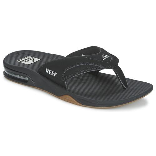Cipők Férfi Lábujjközös papucsok Reef FANNING Fekete
