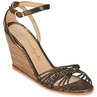 Cipők Női Szandálok / Saruk Petite Mendigote COLOMBE Fekete  / Arany