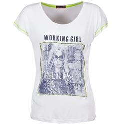 Ruhák Női Rövid ujjú pólók La City TMCD3 Fehér