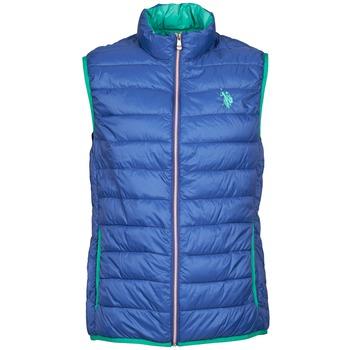 Ruhák Férfi Steppelt kabátok U.S Polo Assn. USPA LT PADDED VEST Kék