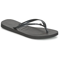 Cipők Női Lábujjközös papucsok Havaianas SLIM CRYSTAL GLAMOUR SWAROVSKI Fekete