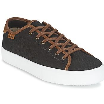 Cipők Férfi Rövid szárú edzőcipők Victoria BASKET LINO DETALLE MARRON Fekete  / Barna