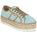 Shoes Női Rövid szárú edzőcipők Victoria BASKET ETNICO PLATAFORMA Kék / Bézs