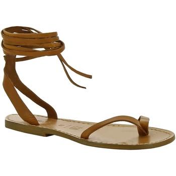 Cipők Női Szandálok / Saruk Gianluca - L'artigiano Del Cuoio 534 D CUOIO CUOIO Cuoio