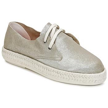 Cipők Női Gyékény talpú cipők Bunker IBIZA Ezüst